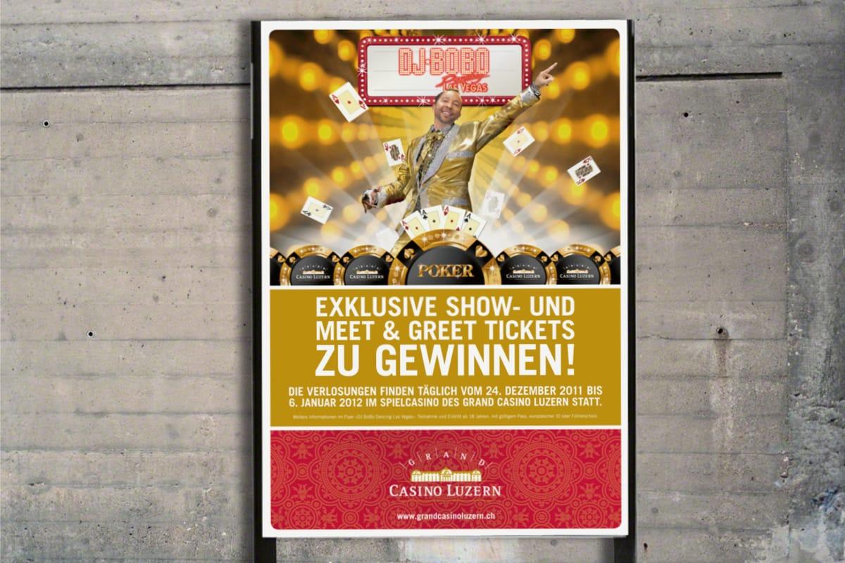 Plakat «DJ Bobo Las Vegas» Grand Casino Luzern