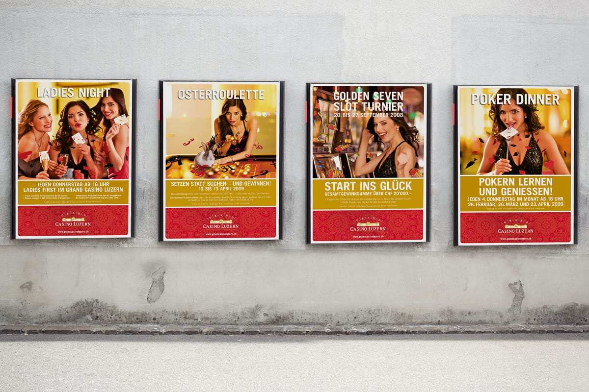 Promotions-Plakate Grand Casino Luzern