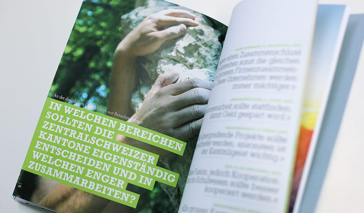 IHZ Programmheft Wirtschaftsforum Bildseite Kletterer