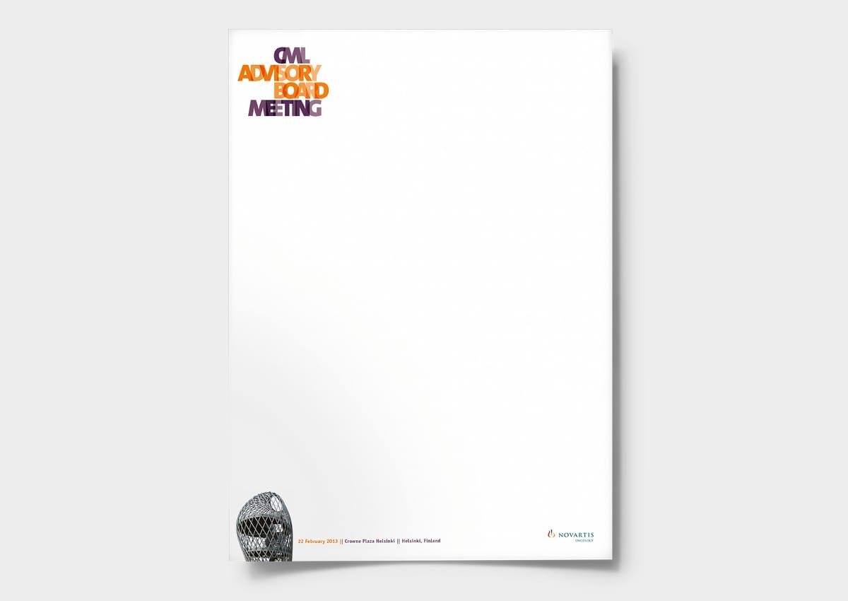 Novartis Oncology CML ABM Briefpapier