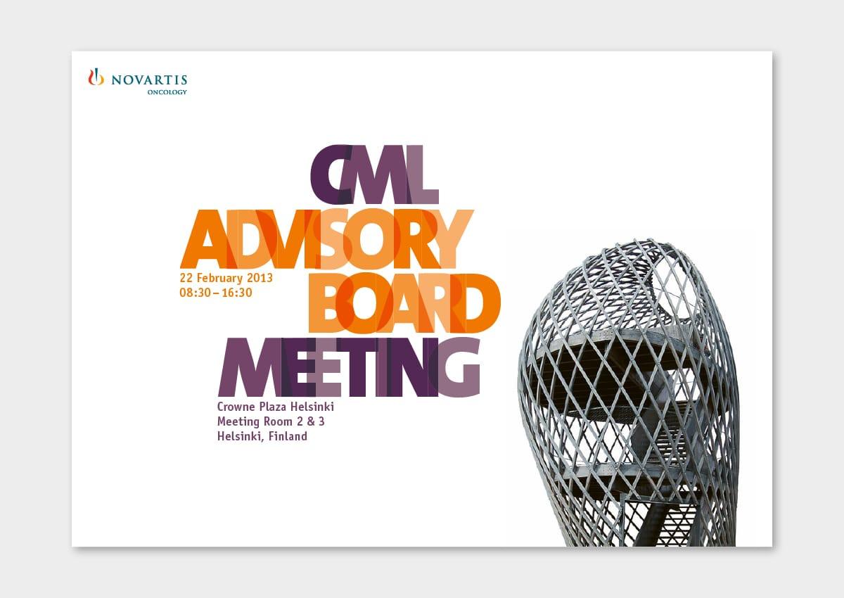 Novartis Oncology CML ABM Plakat