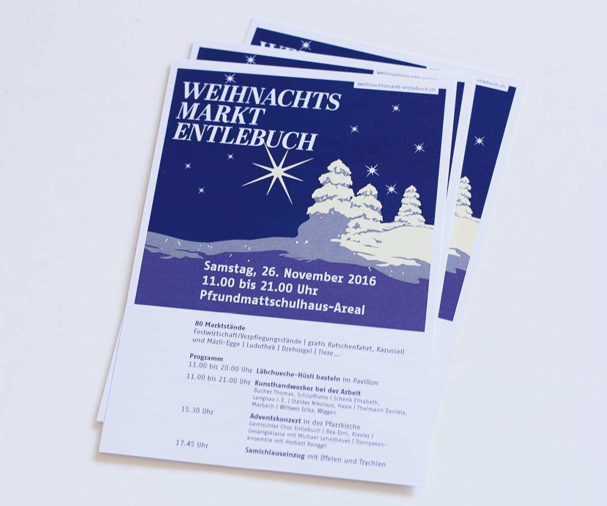 Flyer Weihnachtsmarkt Entlebuch