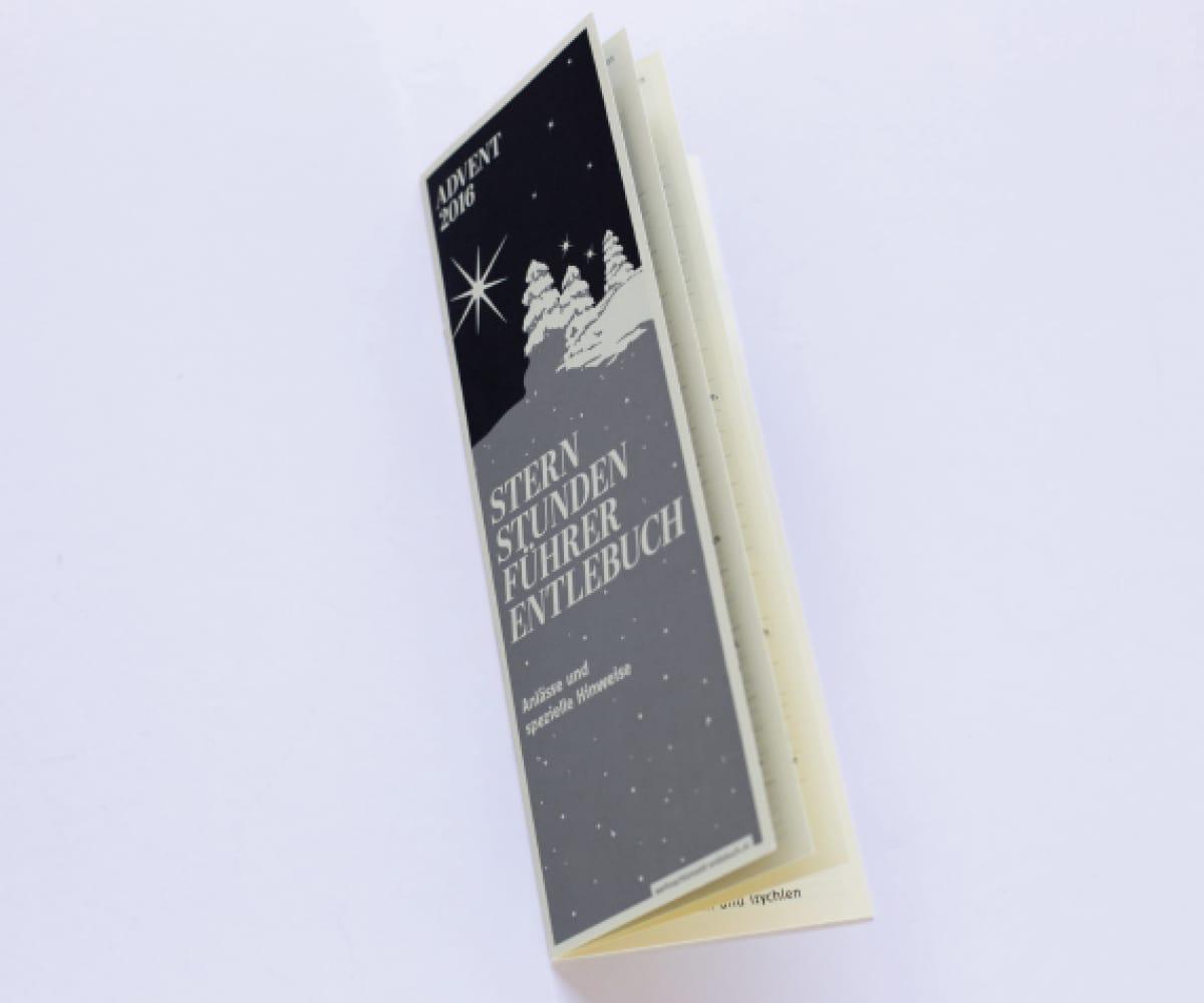 Titelseite Sternstundenführer Weihnachtsmarkt Entlebuch