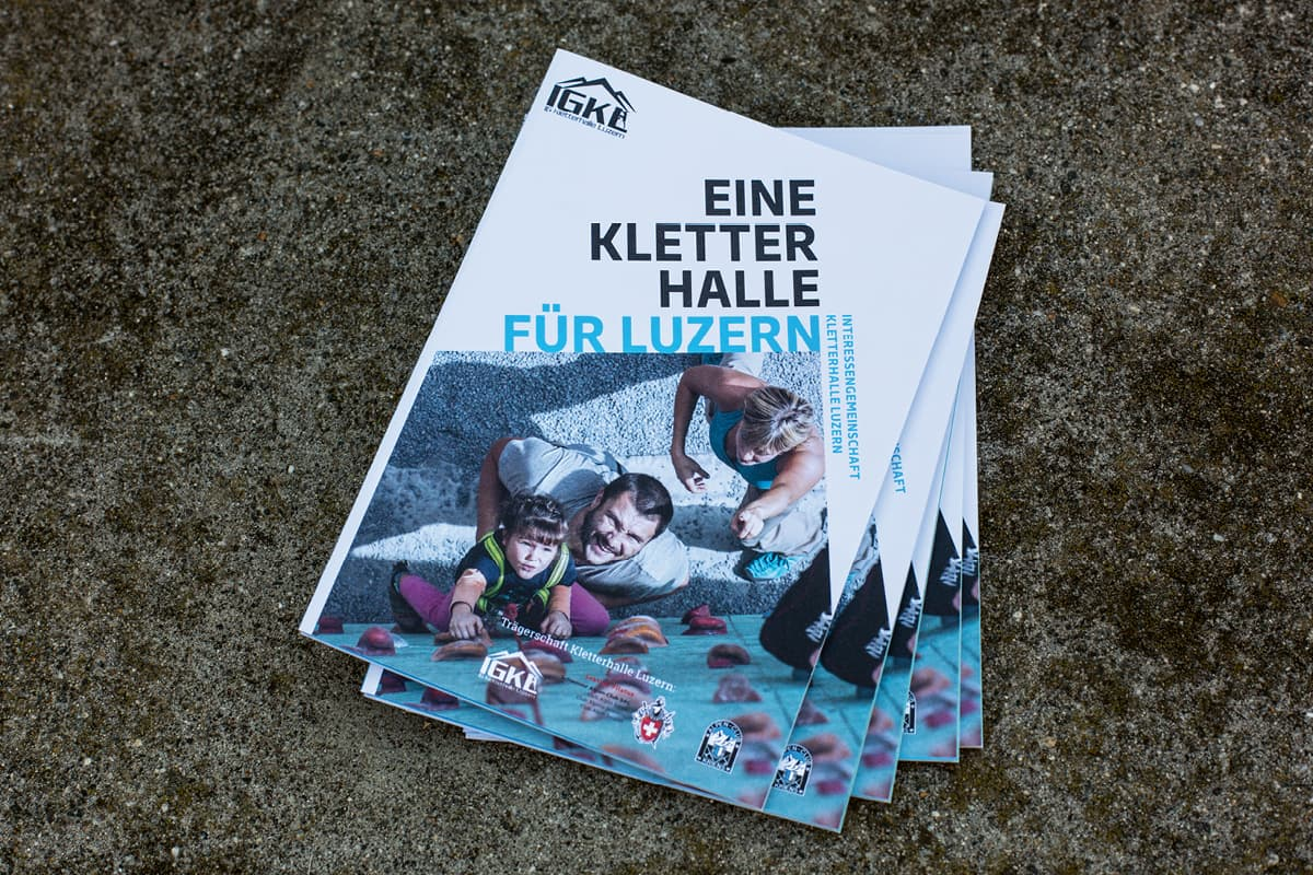 Flyer «Eine Kletterhalle für Luzern» IGKL