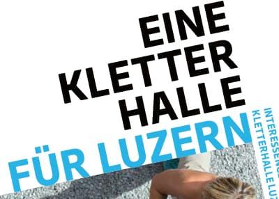 IGKL — Mitgliederwerbung Kletterhalle Luzern