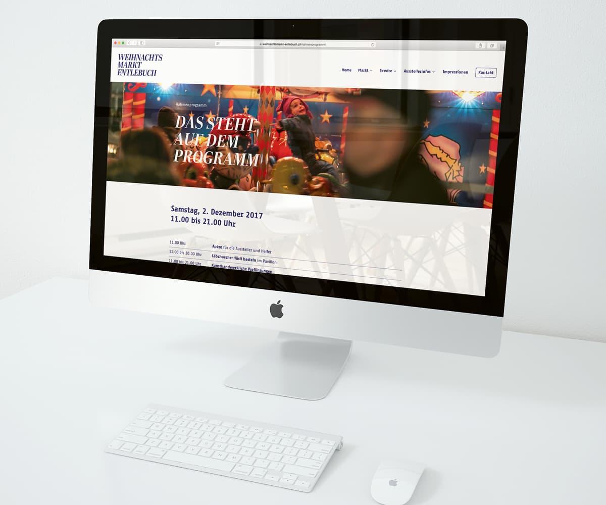 Website Weihnachtsmarkt Entlebuch auf Desktop-Gerät