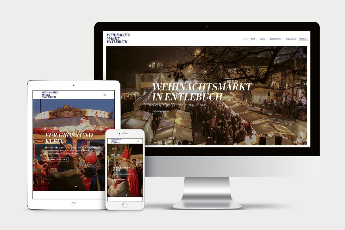 Website Weihnachtsmarkt Entlebuch