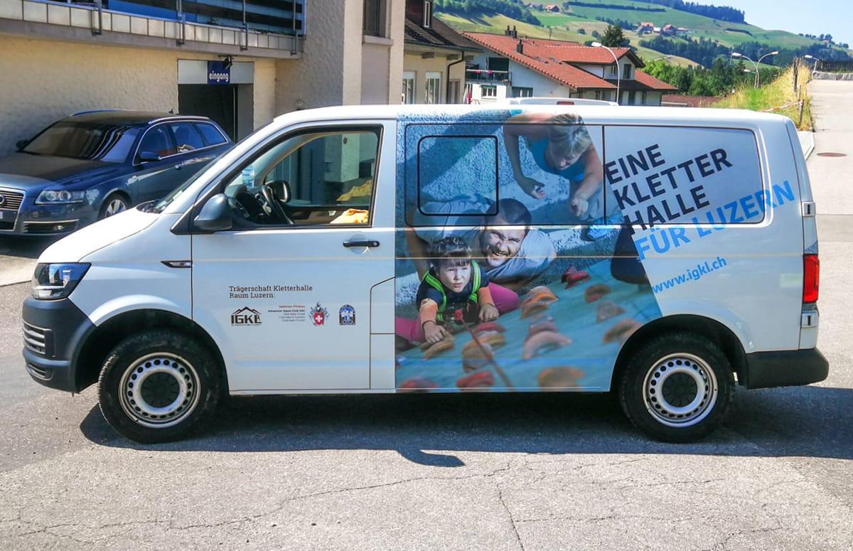 IGKL Fahrzeugbeschriftung VW-Bus Fahrerseite