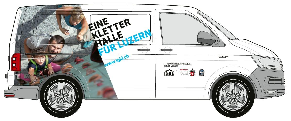IGKL Layout Fahrzeugbeschriftung VW-Bus
