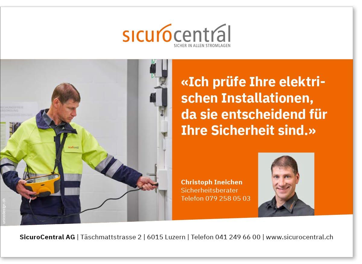 Inserat Elektrokontrollen SicuroCentral