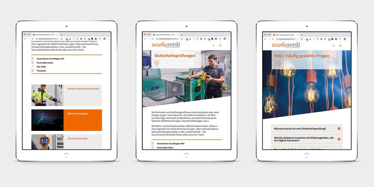 SIQUMA Website auf Mobile-Geräten